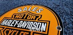 Vintage Harley Davidson Station Service De Gaz En Porcelaine Pompe Connexion