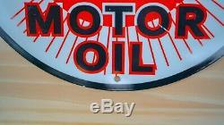 Vintage Hudson Motor Oil Porcelain Sign Service Station Plaque Pompe À Gaz Lubester