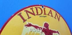 Vintage Indian Chef Essence American Spirit Station Service Pompe Essence Signe