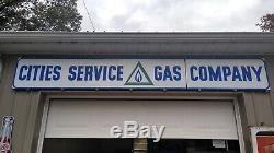 Vintage Long Service Porcelaine Villes De Gaz Service Rare Sign Gas Station