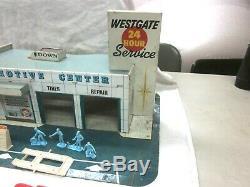 Vintage Marx Service De Westgate Centre Station Tin Litho & Accessoires Nice