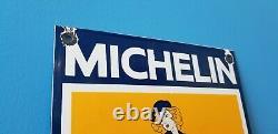 Vintage Michelin Tires Bibendum Porcelaine Gas Pin Up Girl Service Station Signe
