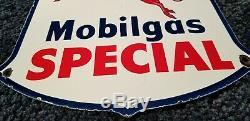 Vintage Mobil Essence En Porcelaine Service Station De Pompe À Gaz Plate Pegasus Annonce Se Connecter