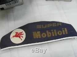 Vintage Mobil Oil Service De Gaz De Remplissage Préposé Chapeaux Uniforme Lot De 3