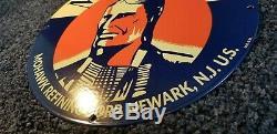 Vintage Mohawk Essence Porcelain Sign Gaz Metal Service Station De Pompage Plate Annonce