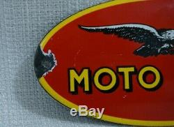 Vintage Moto Guzzi Moto Huile En Porcelaine Connexion Station Metal Service Rare