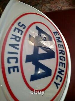 Vintage N. O. S. Aaa Service Gas N Oil Station Truck Lighted Signe Cab Topper