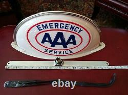 Vintage N. O. S. Aaa Station Service Gas & Oil Light Up Cab Topper Inscrivez-vous