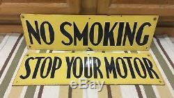 Vintage Non Stop Smoking Votre Moteur Richfield Porcelaine Service Signe Station