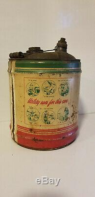 Vintage Oil Can Ashland Kentucky Rare Service Station 5 Gallon