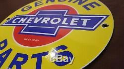 Vintage Oil Service Chevrolet Porcelain Gas Pièces Station Dealer Bowtie Connexion