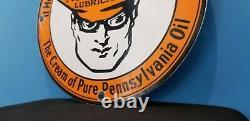 Vintage Oilzum Gasoline Gaz Oil Service Station Station Pump Plate Ad Sign