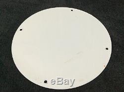 Vintage Oilzum Oil Service Porcelaine Station Signe Pompe À Essence Plate Rare