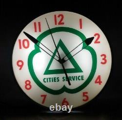 Vintage Original Cities Service Gas Station Advertising Clock Pam Company Signe