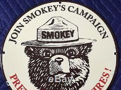 Vintage Ours Smokey Porcelaine Signe Gaz Huile Service Camping Station Plate Pompe