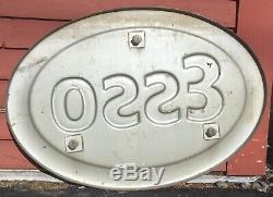 Vintage Ovale Gaufrée Auto Encadrée Esso Service Station Gas Motor Oil Trade Sign