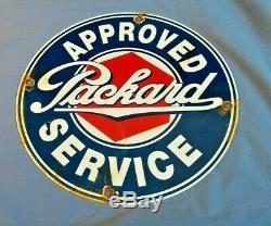 Vintage Packard Essence Porcelaine Station Service Signe Automobile Concessionnaire Annonce
