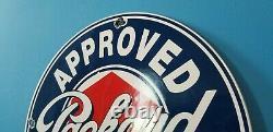 Vintage Packard Station De Service D'essence De Porcelaine Automobile Dealership Signe De Vente