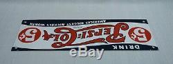 Vintage Pepsi Cola Porcelaine Signe Gaz Huile Metal Service Station De Pompage Plate Soda