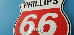 Vintage Phillips Essence Porcelaine Essence Station De Service Automobile Pompe Rack D'huile