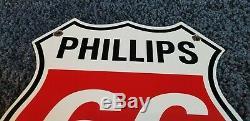 Vintage Phillips Essence Porcelaine Station Service Moteur De La Pompe Plaque Annonce Se Connecter