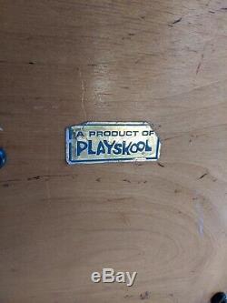 Vintage Playskool Service Station Gaz Bois Garage Créatif Playtown Joujoux