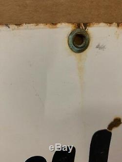 Vintage Porcelaine Sanitaire Salles De Repos Service Signe Gaz Gulf Station Hommes Femmes