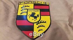 Vintage Porsche Porcelain Station Auto Service Stuttgart Concessionnaire Connexion