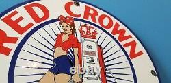 Vintage Red Crown Essence Essence Essence Station Service Station Pin Up Girl Sign Vintage Red Crown Gasoline Porcelain Service Station Pin Up Girl Sign Vintage Red Crown Gasoline Porcelain Service Station Pin Up Girl Sign Vintage Red Crown
