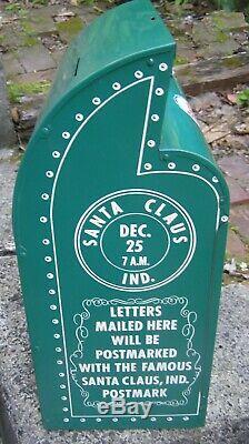 Vintage Santa Claus Esso Boîte Aux Lettres Station Service De Noël Affichage Signe Rare