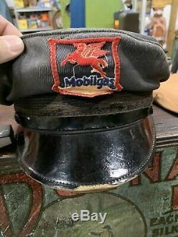 Vintage Service Mobil Oil Préposé Hat Gasoil Soda Cola