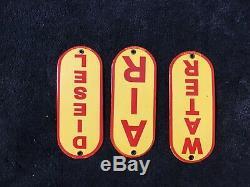 Vintage Shell Essence Porcelaine Signe Gaz Huile Service Station De Pompage Plate Concessionnaire