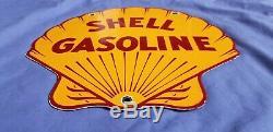 Vintage Shell Essence Porcelaine Station Service De Pompe À Gaz Plaque Métallique Annonce Se Connecter