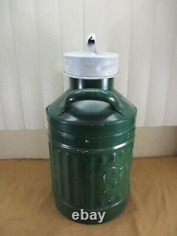 Vintage Sinclair 5 Gallon Gaz / Pétrole Peut Avec Embossed Letters Gas Service Station