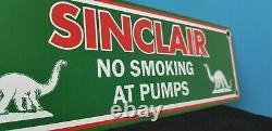 Vintage Sinclair Essence Oil Non Fumer Station De Service Essence De Porcelaine Signe De Pompe