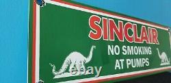 Vintage Sinclair Gas Oil No Smoking Porcelain Gasoline Service Station Pump Sign