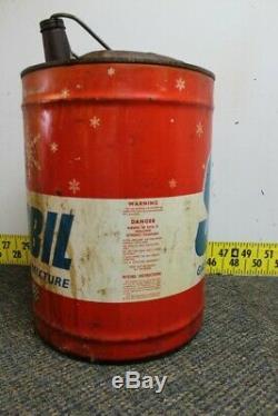 Vintage Snobil Lemans Gaz Huile Mélange 6 Gallon Can Man Cave / Service Station