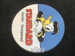Vintage Standard Essence Pancarte De Métal Gas Oil Station Service Pump Plate Disney