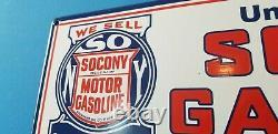 Vintage Standard Oil Co Porcelaine Essence Station De Service D'huile De Moteur Plaque De Pompe