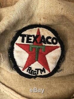 Vintage Station Service Original Texaco Gaz Conducteur Attendant Uniforme Chapeau