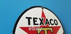 Vintage Texaco Aviation Porcelain Gas Oil Service Station Texas Pump Sign