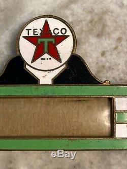 Vintage Texaco Huile Moteur Gaz Station Service Attendants Badge Art Déco