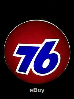 Vintage Union Station Service 76 Gas Light Sign Up 36