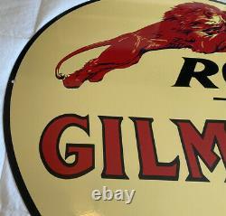 Vintage Very Large Gilmore Signe 36 Dia Essence Motor Oil Gas Station Service