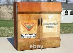 Vintage Wagner Lockheed Pièces Outil Armoire Boîte Auto Station Service Old