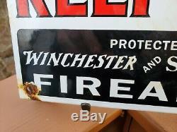 Voleurs Vintage Porcelaine Station Service Connexion Huile Moteur Winchester Wesson