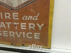 Vtg Goodyear Tire Et Votre Batterie Old Station Service Connexion Gaz 30x30 Affichage